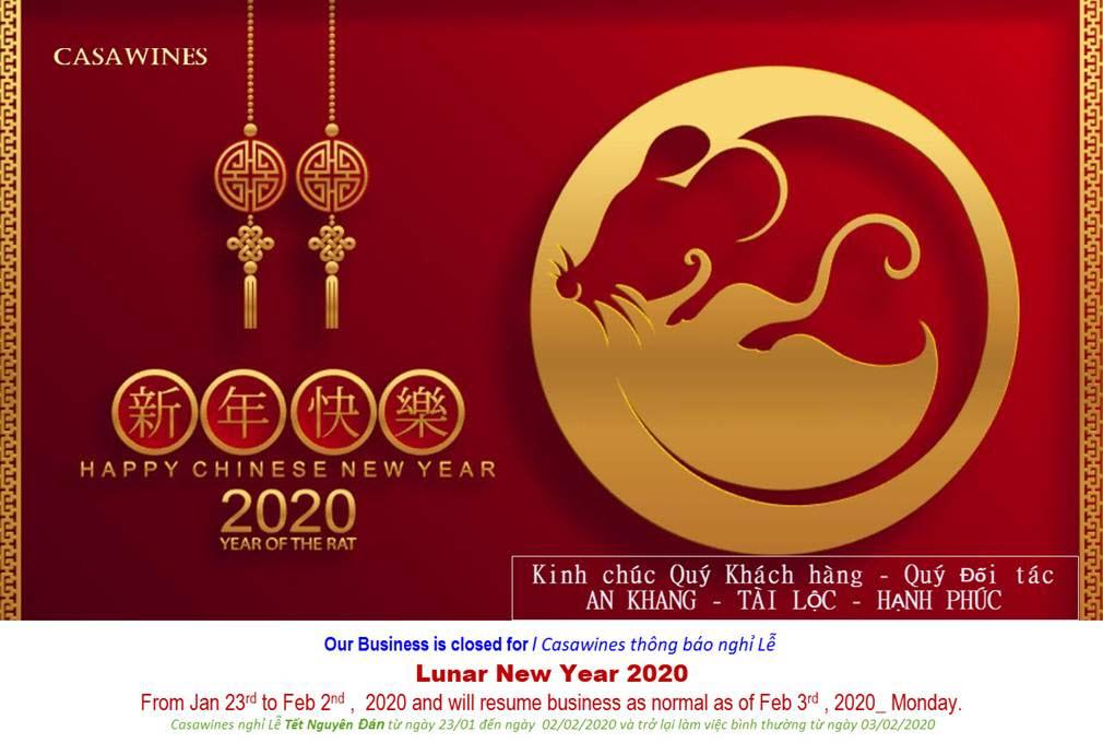THÔNG BÁO LỊCH NGHỈ TẾT CANH TÝ 2020
