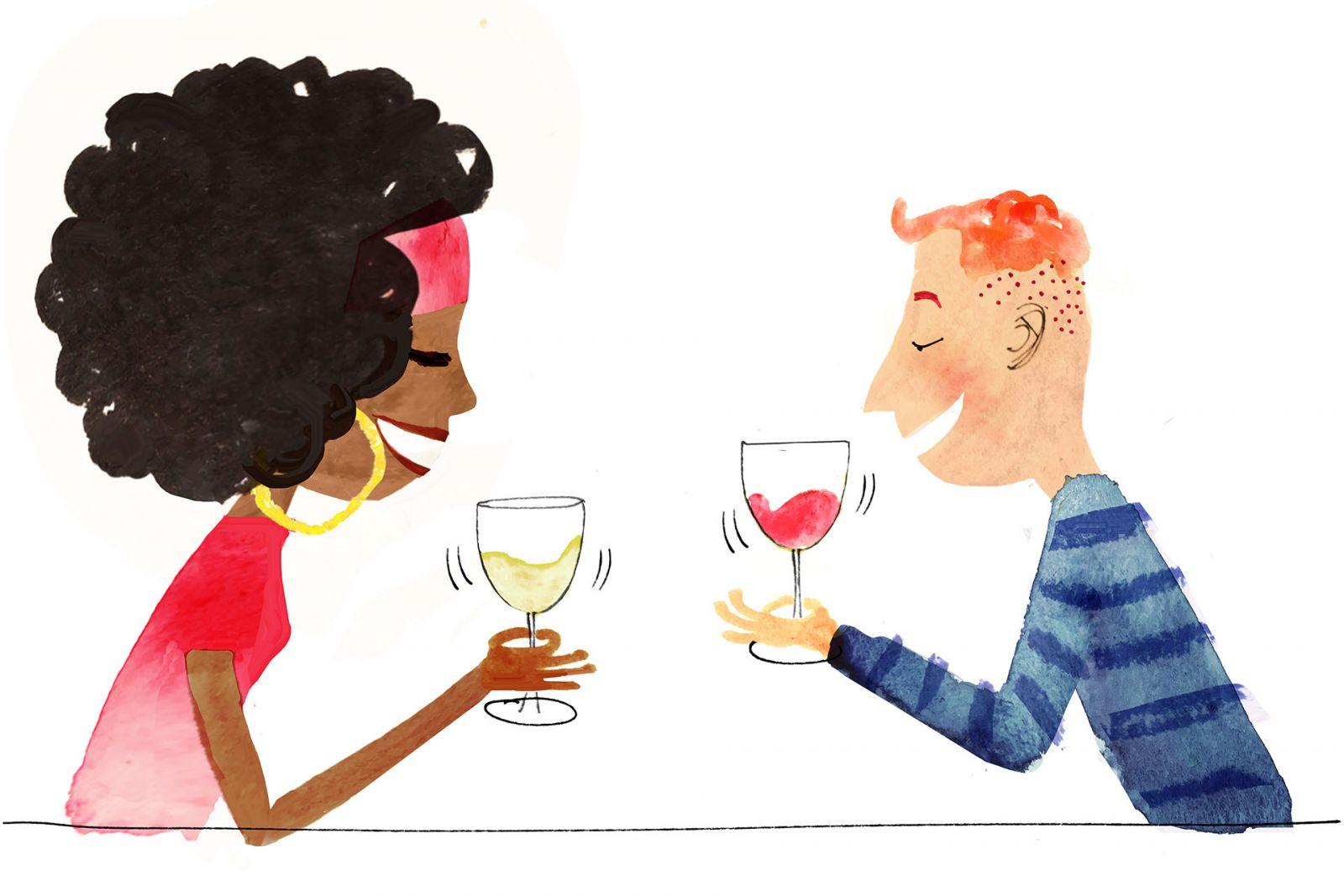 xoáy ly rượu vang